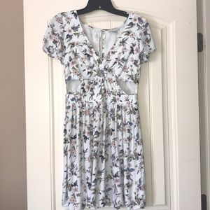 American Eagle Floral Cutout Dress Size Small